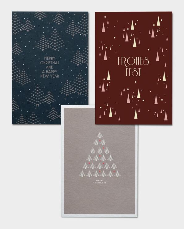 Weihnachtskartenset