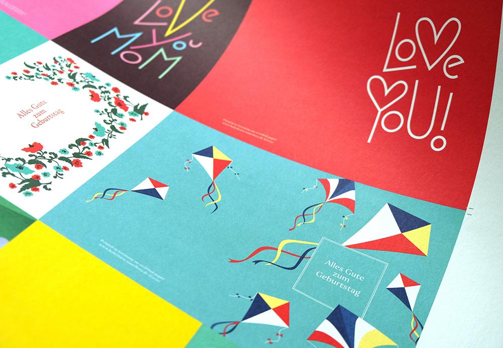 Druckbogen mit Grußkarten von Haferkorn & Sauerbrey